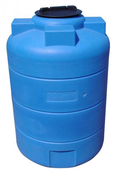 Вертикален цилиндричен резервоар за вода - 1000 L